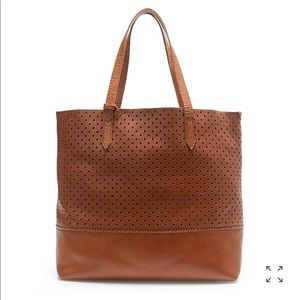 J Crew Downing Tote in Perforated Leather